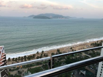 Nha Trang beach seen from hotel
