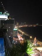 nighttime from hotel skybar