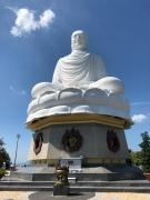 White Buddha statue at Long Son